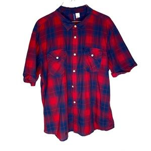 H&M Divided short sleeve red and blue shirt XL